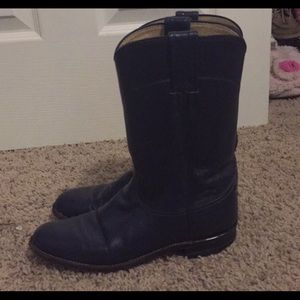 Justin Boots navy blue Ropers
